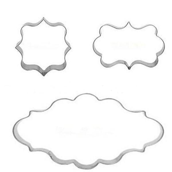 Stampo per torta in acciaio inox Curling Design Cookie Mold Sicuro alta durezza Fondant Kitchen Bar Stampi da forno multifunzionali 1 2 dz Y
