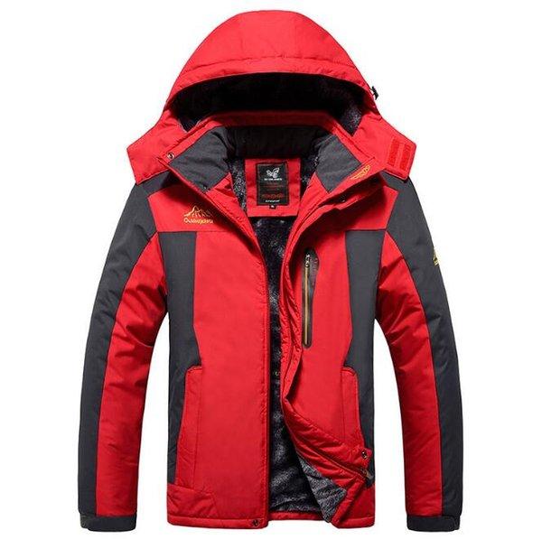 Winter Fleece Military Jackets Men Windproof Waterproof Outwear Parka Mens Windbreaker Army Raincoat Coat Plus Size 9XL Overcoat