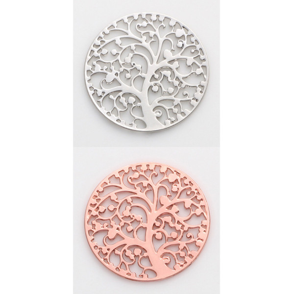 2018 Origami Owl Locket Charms DIY 22mm Alloy Rose Gold Plated Silver Plated Tree of life Charms Pendants for Jewelry Making DIY Handmade