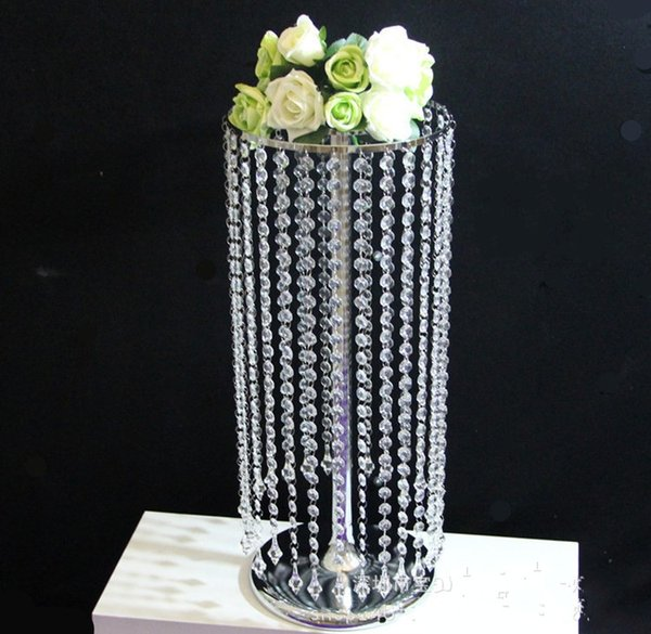 60CM 2Ft Height Clear Crystal Acrylic Bead String Garland Chandelier Table Centerpieces Wedding Road Lead Party Decoration supplies