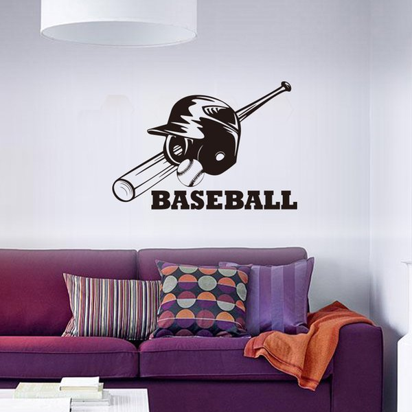 Creative Baseball Hat Wall Stickers Waterproof PVC Wallpapers Can Be Removable Arts Murals Fitness Sitting Room Bedroom Decor Free Shipping