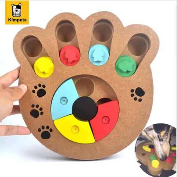 Интерактивные игрушки для собак и кошек питание лечение деревянные собаки игрушки Эко-дружественных щенок Pet игрушки образовательные Pet кости лапы головоломки игрушки