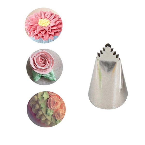 Good #95 Leaves Tube Decorating Tip Icing Fondant Piping Decorating Nozzles Pastry Cake Decor Tool