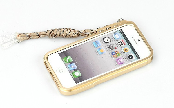 Thouport For Iphone 5 Case luxury Iphone 5s Case Super Mechanical Arm Aluminium Bumper Case Metal Frame Cover For Iphone Se