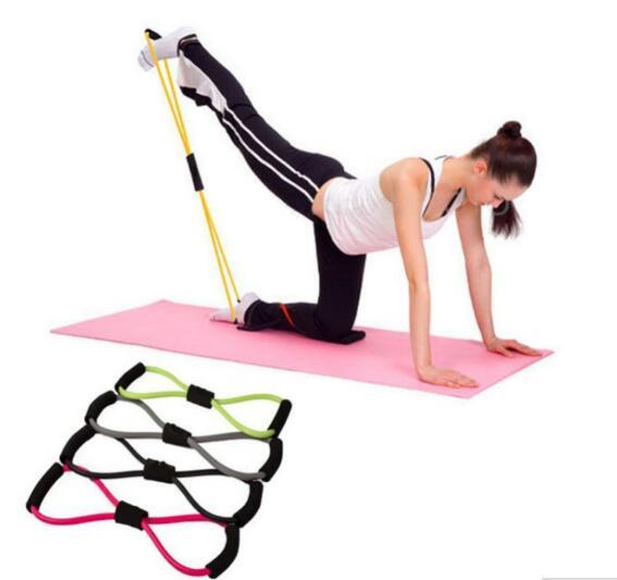 New Arrive Resistance Training Bands Tube Workout Exercise for Yoga 8 Type Fashion Body Building Fitness Equipment Tool
