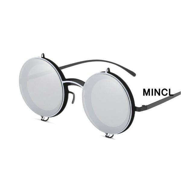 Retro Small Round Fashion Men's Reflective Mercury Sunglasses Brand Designer Ladies Hip Hop Outdoor Shade Summer Sunglasses NX