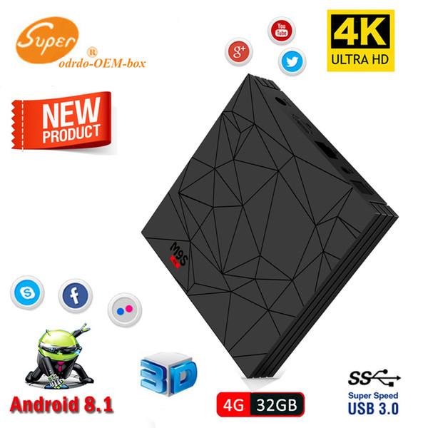4GB Smart TV Box Android 8.1 Rockchip RK3328 Quad Core Mini PC Wifi M9S Y2 4G 32G Set Top Box Wifi 4K HDR Media Player USB 3.0