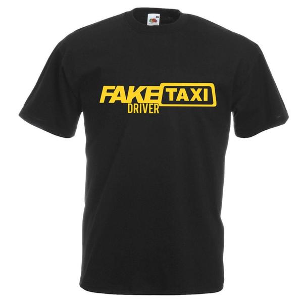 Mens Nero Divertente Tassista falso T-Shirt Stag Party Gents stampato UK Marca Cotton Men Abbigliamento uomo Slim Fit