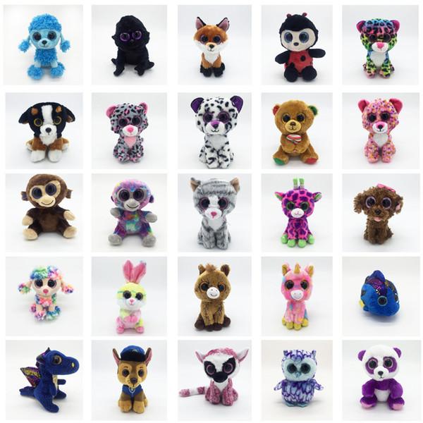 TY Plüschtiere Große Augen Kuscheltiere Spielzeug Cartoon Panda Einhorn Bär Plüsch Puppe Schöne Kinder Geburtstagsgeschenke