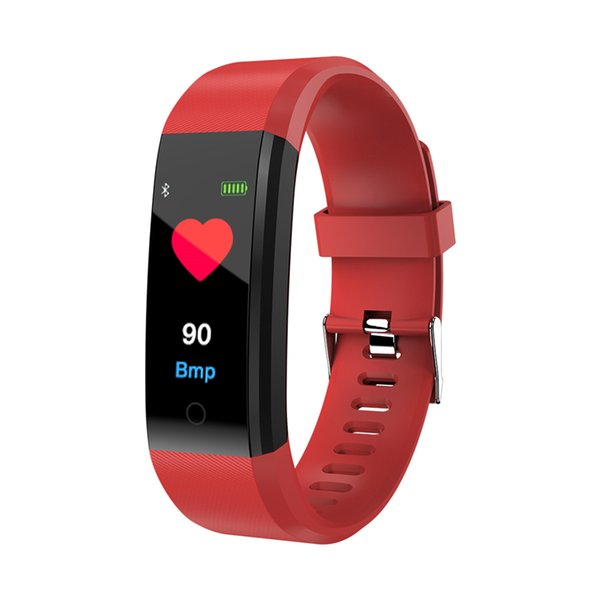 Color Sreen Smart Fitness Bracelet Tracker Heart Rate Blood Pressure Monitor Passometer Smart Band Watch Wristband for iPhone Samsung