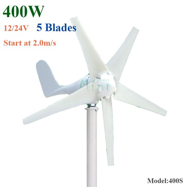 hot selling 5 blades 400w horizontal wind turbine generator 12v 24v AC Permanent Magnet Wind Turbine Generator