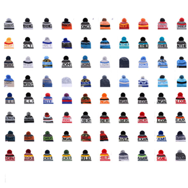 2020 Winter American Team Beanies Caps Pom Sports Hats Baseball Snapback Cpas All in stock Knit Hat Top Quality Hat More 6000+Styles