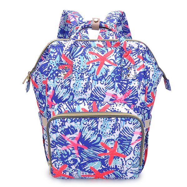 Lilly Inspired Pulitzer Mommy Backpacks Baby Diaper Mom Nappies Mother Backpack Maternity Large Desinger Nursing Outdoor Travel Bags