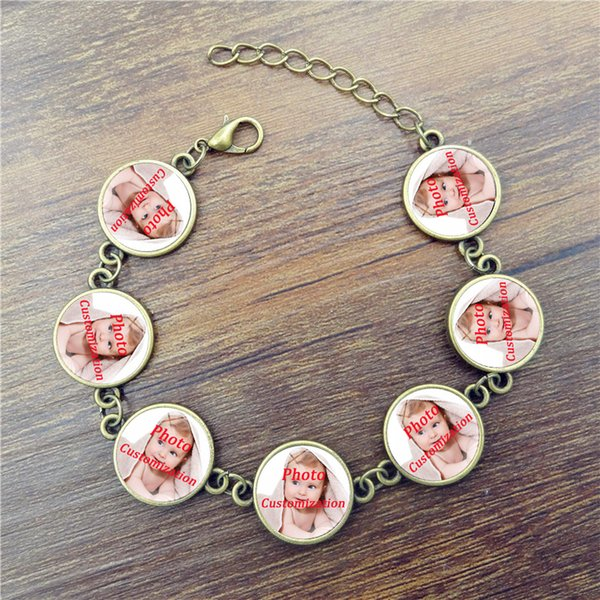 Personalized Custom Photo Women Charm Bracelet Photo of Your Baby Child Mom Dad Grandparent Loved One Gift for Family Member