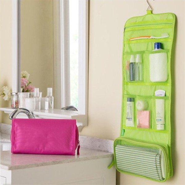 Storage Bags Multi Function Travel Business Portable Suspension Type Wash Make Up Small Fold Cosmetic Bag 6 7rb gg