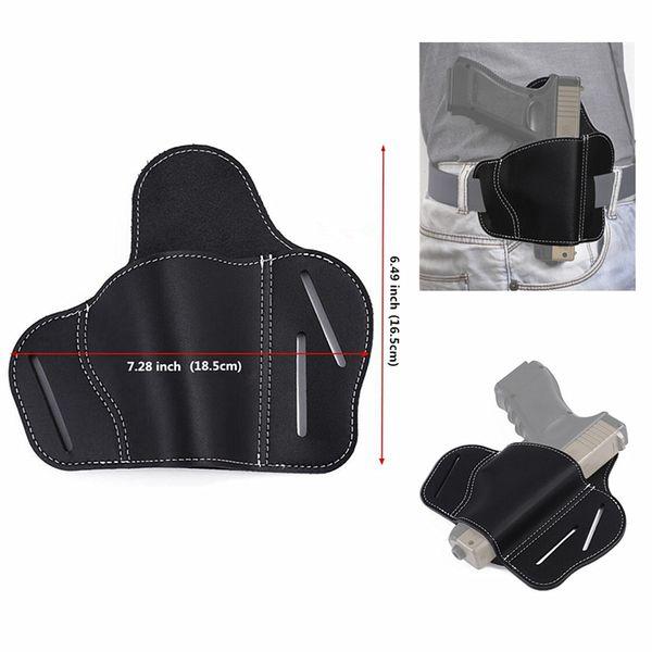 best selling FIRECLUB The Universal Leather Handgun Holster   3 Slot Pancake Style Belt Holster