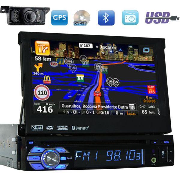 7 '' din din 1 din one din radio lettore dvd gps navigatore registratore a nastro autoradio player autoradio controllo volante + telecamera posteriore
