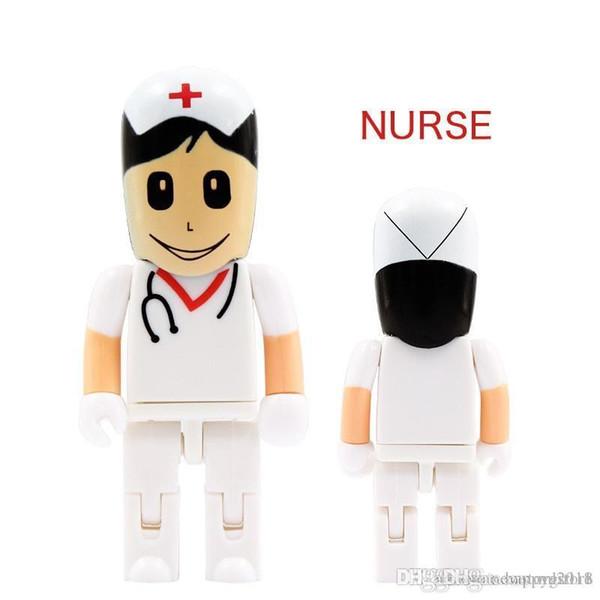 Fantastic Best gift pendrive cartoon U Disk Doctor USB flash drive Nurse memory stick cute 128gb pen drive U49 new arrival