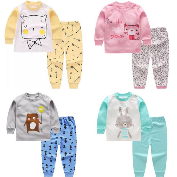 fcc608b3ea401 Baby Girl Clothes Sets Baby Infant Clothing Outfits Suits 2Pcs Kids Clothes  Cotton Newborn Clothing Sets