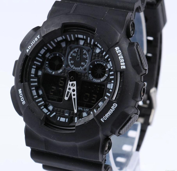 10pcs Men running Military big Watch Wristwatch ga100 LED Quartz Clock Sport Male relogios masculino Sport S Shock casual Watch Men G Watch