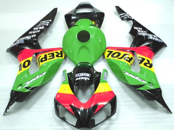 Hot sale Injection molding Fairings for Honda CBR1000RR 2006 2007 yellow red green fairing kit CBR 1000 RR 06 07 RE45