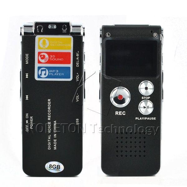kebidumei 2018 Mini USB Flash Pen Recorder Disk Drive 8GB Digital Audio Voice Recorder 650Hr Dictaphone 3D Stereo MP3 Player