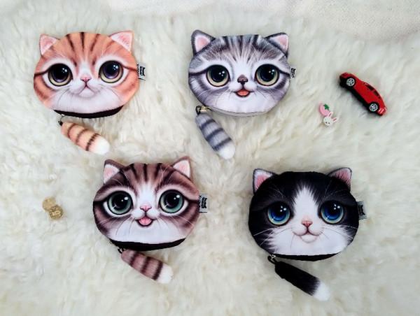 Hot Sale Cartoon Cat Women Coin Purse Cute Wallet Maid Fashion Cartoon Cat Small Wallet Purse Kawaii Bag Clutch Bag Monedero