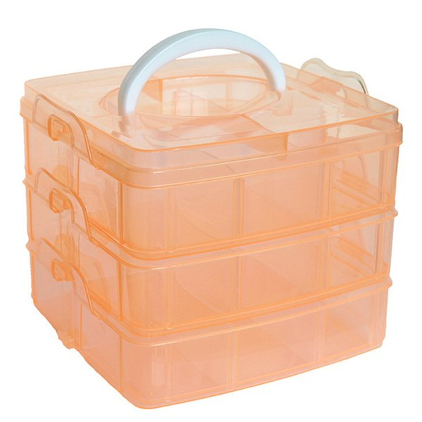 Hot Clear Plastic Craft Beads Jewellery Storage Organizer Tool Box Case Hot Selling Makeup Organizer Cosmetic Container