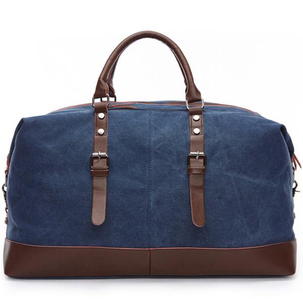 Duffle Bag Duffle Bag Weekender Bag with Packable Leather Canvas Duffle Luggage Travel Shoulder Handbag Free Sample