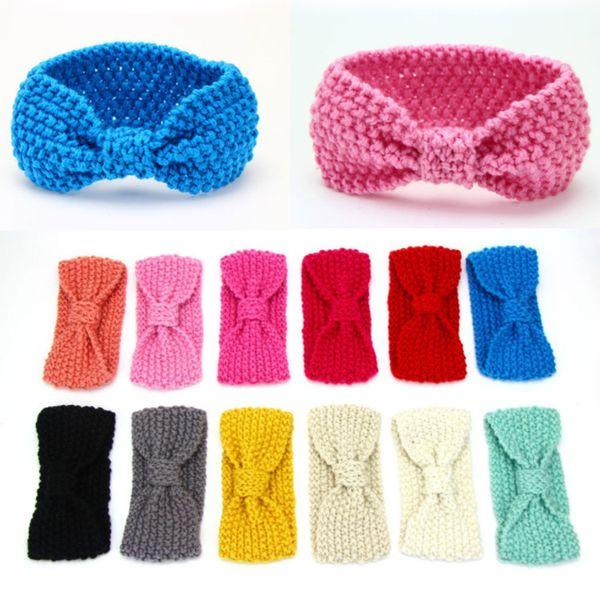 new headband knit crochet top knot elastic turban head wrap hair bands ears warmer hairband hair