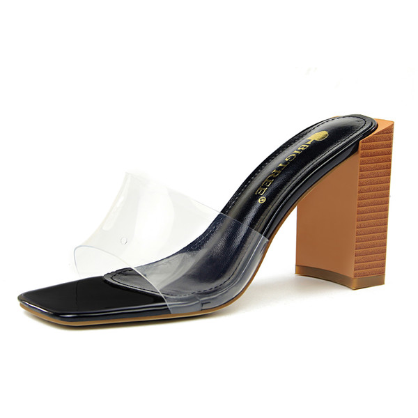 Casual Flip Flops Slippers Chunky Sandals Women Heels Pumps Open Toe High Heels Festival Party Wedding Shoes Formal Pumps Sandals GWS473