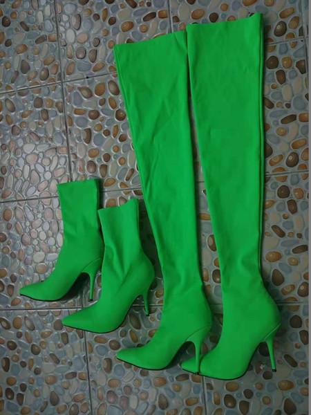 Grüne Stiefeletten