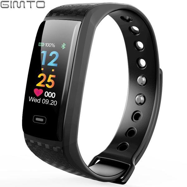 GIMTO Brand Sport Smart Bracelet Watch Women Men Waterproof Stopwatch Heart Rate Blood Pressure Oxygen Calories For iOS AndroidY1883102