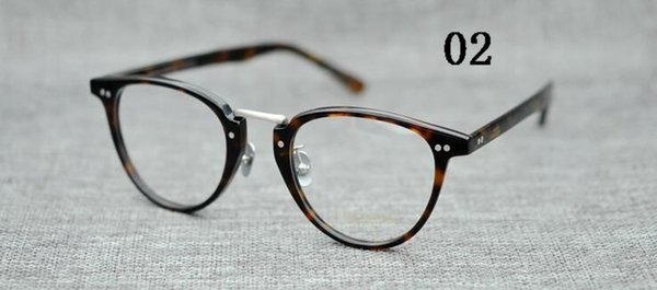 Brand 2018 YELLOWS PLUS KURT Men design round OLIVER PEOPLES eyewear top Quality Woemen Vintage eyeglasses frame with Arrow Rivet