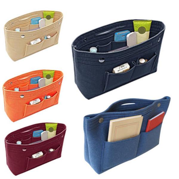 Women Insert Handbag Organiser Purse Felt liner Organizer Bag Travel Casual Home Storage Bags
