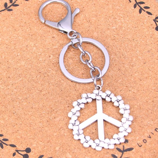 Fashion peace symbol keychain can be used for car key accessories bag accessories