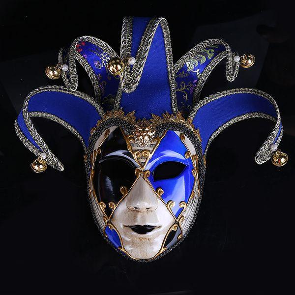 Colored Drawing Halloween Ball Mask Articoli per feste Venice Carnival Decoration Woman Man Perform Plastic Full Face Maschere Bardian 50wp bb