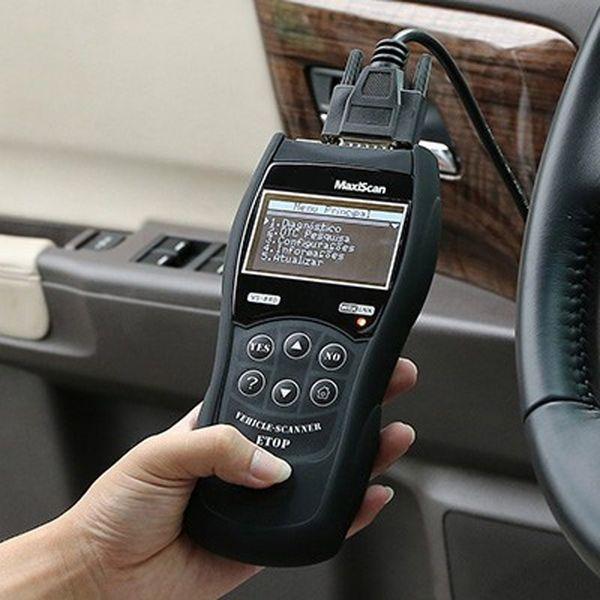 VS890 Escáner de diagnóstico automático LED VS890 OBD2 OBDII CAN-BUS Fallo Lector de código de automóvil VS-890 Escáner de múltiples idiomas Explorador automático