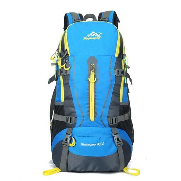 Wholesale 45L Waterproof Women Men Travel Backpack Outdoor Camping Mochilas Climbing Hiking Backpack Sport Back Bag Free Shipping