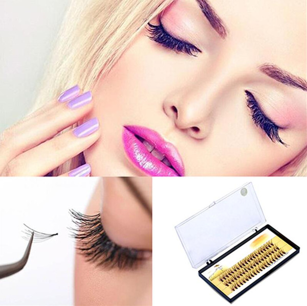 Fashion 60pcs Professional Makeup Individual Cluster Eye Lashes Grafting Fake False Eyelashes Korean planting eyelash Mink Black Tools