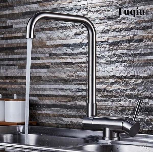 New arrival total 304 SS material high quality foldable single lever hot and cold sink faucet kitchen tap