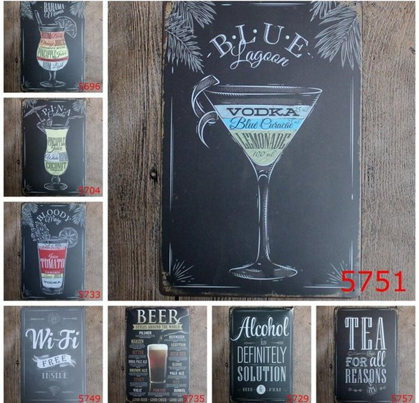 20*30cm Vintage Retro Metal Sign Poster Plaque Bar Pub Club Wall Home Decor art metal Painting FFA600 20pcs