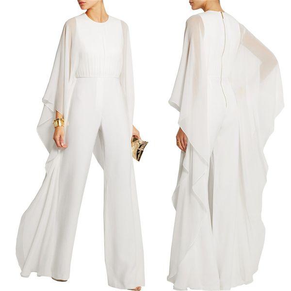 Chiffon Jumpsuits Ladies Elegant High Waist Wide Leg Rompers Female Jumpsuits Casual Streetwear Women Macacao Feminino