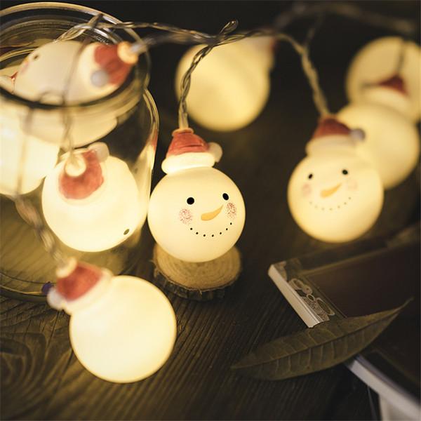1.5m 10 Led Snowman String Light Christmas Decorations for Home New Year Navidad Christmas Tree Xmas Merry Christmas Natale. J Y18102909