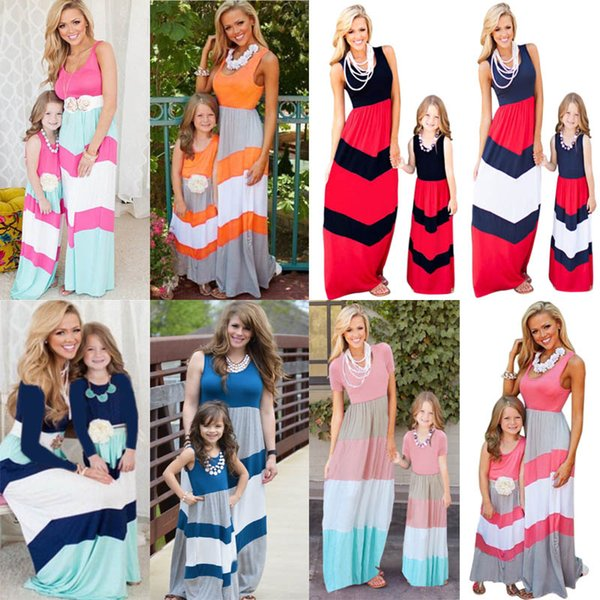mother child christmas dress coupons summer mommy and me striped chevron dress mother and daughter