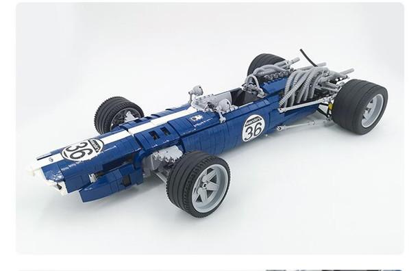 1758 blocks blue sound speed formula car high difficulty building blocks assembled sports car model boy toys