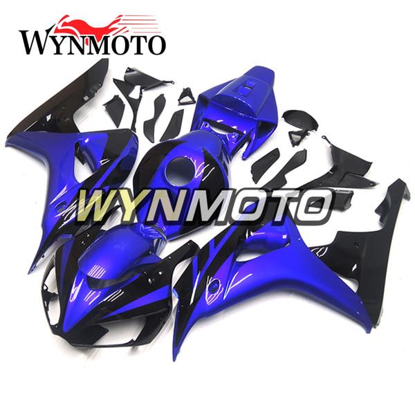 Motorrad-voller Verkleidungs-Installationssatz für Honda CBR1000RR 2006 2007 CBR 1000RR 06 07 ABS Plastikeinspritzung Shinny Blau-Schwarzes Bodywork-Verkleidungen Verkleidung