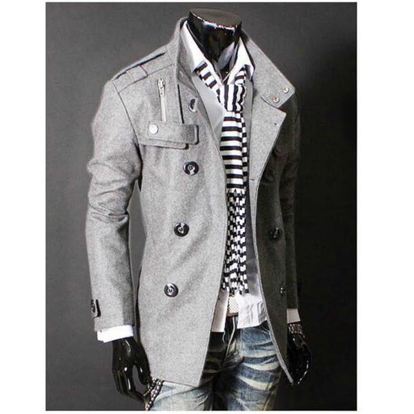 top popular New Mens overcoat Designer Clothing Medium-long Trench long Coat Wool Jacket brand fashion Windbreaker Men Outerwear 2021