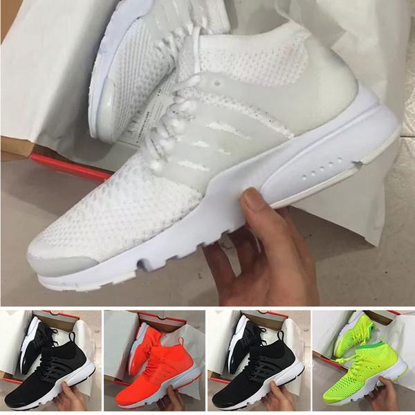 Yeni 2017 Prestos 5 Koşu Ayakkabıları Erkekler Kadınlar Presto Ultra BR QS Sarı Pembe Oreo Açık Moda Koşu Sneakers Boyutu ABD 5.5-12