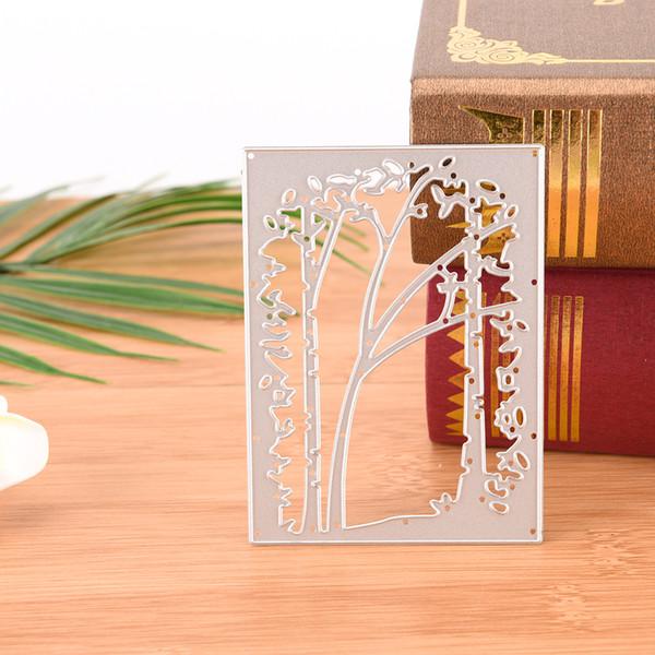Cutter Mold Tree Frame Metal Cutting Dies For Scrapbook Stencils DIY Cards Album Decoration Embossing Folder Template Die
